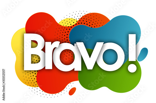 Fotomural bravo in color bubble background