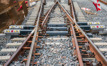 4 Sides Railroad Switch On Con...