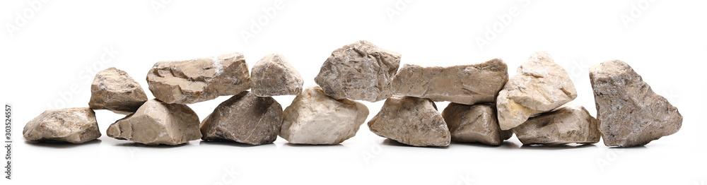 Fototapety, obrazy: Decorative rocks, stone isolated on white background