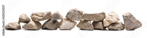 Fotomural  Decorative rocks, stone isolated on white background