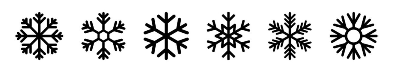 płatki śniegu zestaw ikon