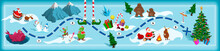Christmas Map With Maze. Adven...