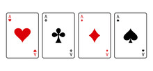 Ace Cards. Red And Black Playi...