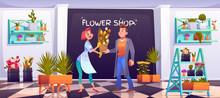 Man Buying Bouquet In Flower S...