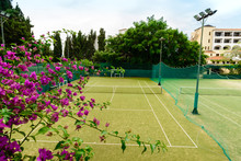 Tennis Court In Resort Hotel