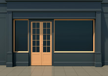 Classic Black Shopfront With L...