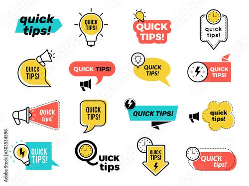 Wallpaper Mural Quick tips badges