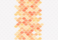 Fishscale Colorful Gray, Yellow And Orange Pattern