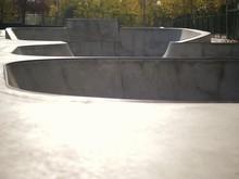 Empty Park Skate On A Sunny Au...