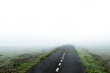 Road To Nowhere. Road In Fog. ...
