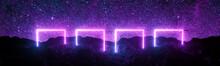 Futuristic Retro Square Neon L...