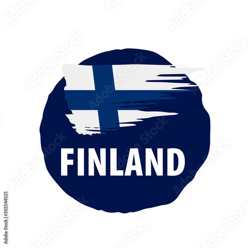 Papel de parede Finland flag, vector illustration on a white background