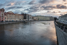 Saint-Petersburg. View Of The Mansion Of Countess Karlova From Anichkov Bridge.