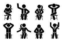 Sitting On Chair Stick Figure ...