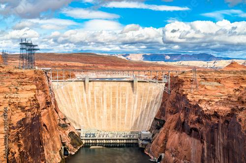 Glen Canyon Dam on the Colorado River in Arizona Canvas Print