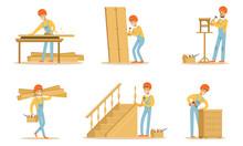 Cartoon Carpenter Character Wi...