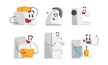 Cartoon Smiling Household Appl...