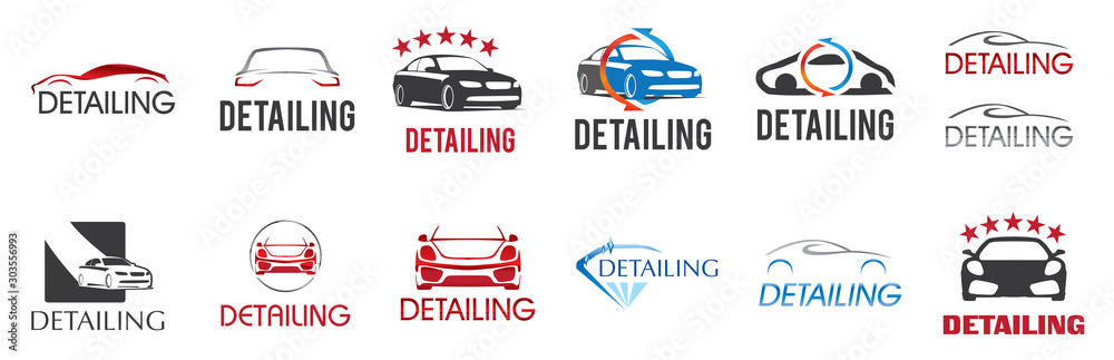 Fototapety, obrazy: Vector logo for detailing car and tuning