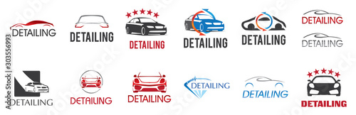 Fotografiet Vector logo for detailing car and tuning