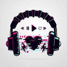 Stereo Headphones With Glitch ...