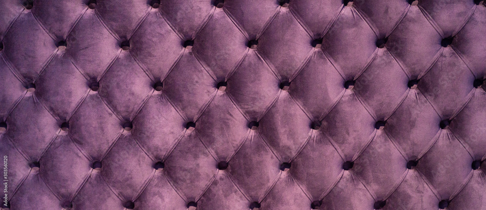 Fototapeta Chesterfield style quilted upholstery backdrop close up. Capitone pattern texture background