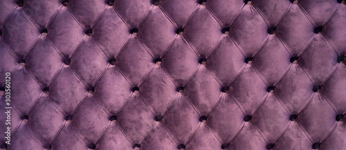 Obraz Chesterfield style quilted upholstery backdrop close up. Capitone pattern texture background - fototapety do salonu