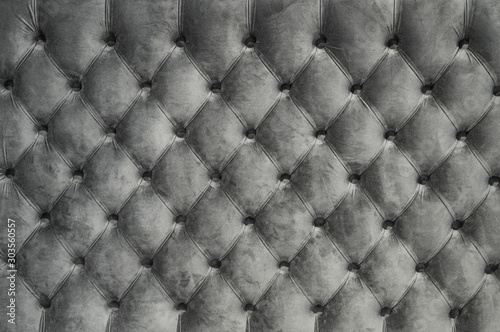 Cuadros en Lienzo  Chesterfield style quilted upholstery backdrop close up