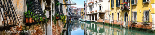 Fototapeta Panoramic view of Grand Canal in Venice Italy obraz