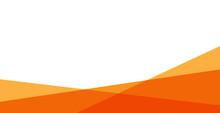 Simple Orange Background . Flat Geometric Gradation Style