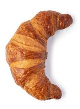 Fresh Croissant On White