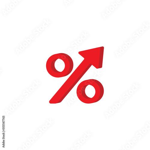 Cuadros en Lienzo  Percent sign and arrow vector