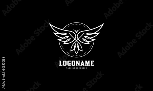 Платно Abstract bird logo vector