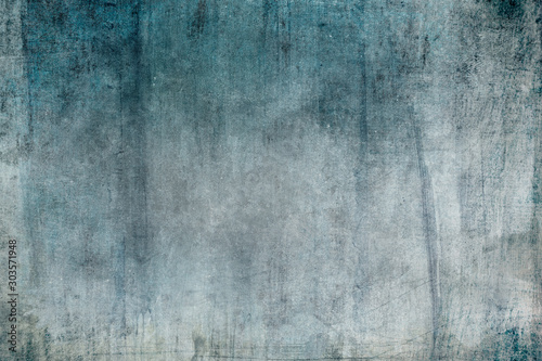 Obraz Old blue grungy wall background or texture - fototapety do salonu