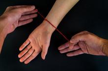 Wonderful Red Thread On A Blac...