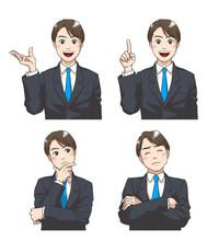 A Set Of Facial Expressions Of...