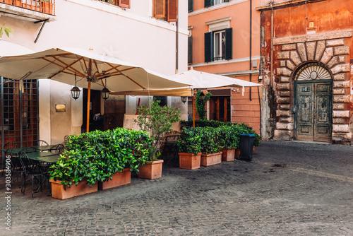 Cozy old street in Trastevere in Rome, Italy Canvas Print
