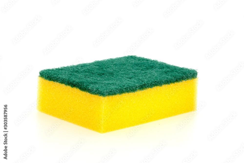 Fototapeta sponge isolated on white background