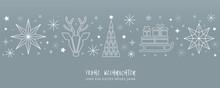 Weihnachtsgruss Silberner Hint...