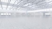 3D Render Of Empty Exhibition ...