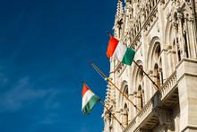 Hungarian Flags On The Hungari...