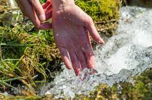 Fast-flowing Water In A Mounta...