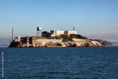 The alcatraz island is famous in sanfrancisco,California,USA. Canvas Print