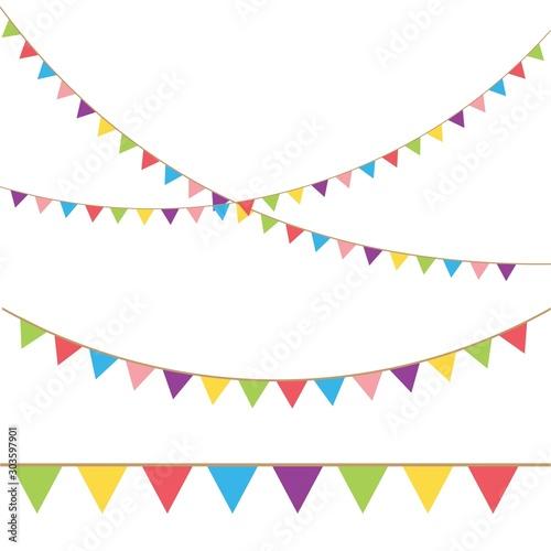Fototapeta  Carnival garland with flags