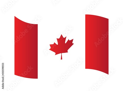 Canada flag, official colors and proportion correctly. National Canada flag vector illustration