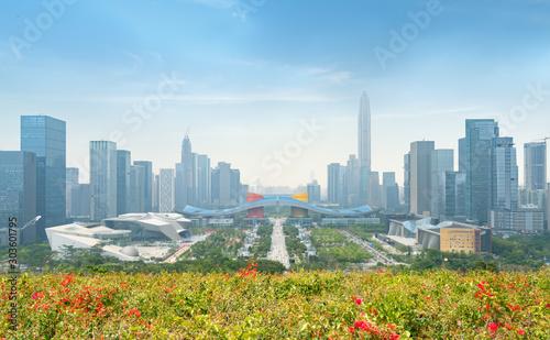 Modern urban architecture scenery in Shenzhen, China