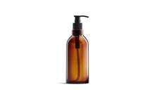 Blank Amber Glass Pump Bottle ...