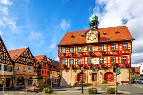 Rathaus, Bad Staffelstein, Bayern, Deutschland Canvas-taulu