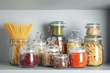 Glass Jars With Different Type...
