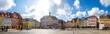 Leinwanddruck Bild - Marktplatz, Rathaus, Coburg, Bayern, Deutschland