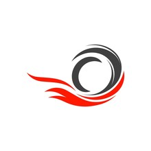 Tire Vector Icon Illustration